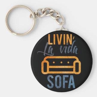 Livin' la vida sofa keychain
