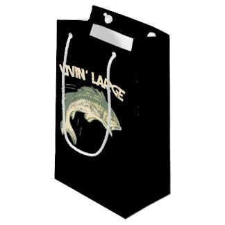Livin large largemouth bass fishing small gift bag
