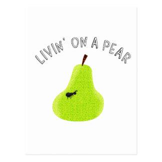 Livin On A Pear Postcard