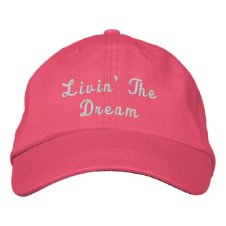 Livin' The Dream Personalized Adjustable Hat
