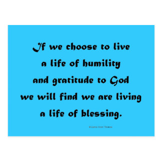 living a life of blessing postcard