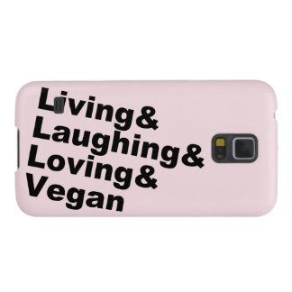 Living and Laughing and Loving and Vegan (blk) Galaxy S5 Case