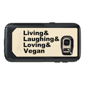 Living and Laughing and Loving and Vegan (blk) OtterBox Samsung Galaxy S7 Case