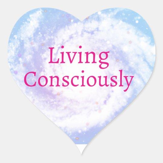 Living Consciously Heart Sticker