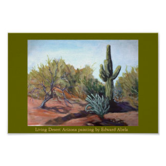 LIVING DESERT, ARIZONA POSTER