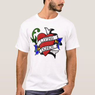 Living Donor Heart Tattoo T-Shirt