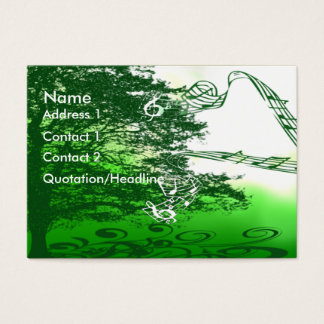 Living Green Creates a Melody All Around Us- Business Card
