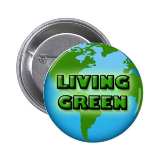 LIVING GREEN EARTH 2 INCH ROUND BUTTON