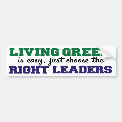 Living Green is Easy Bumper Stickers