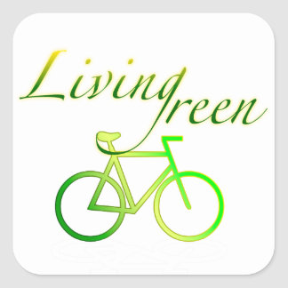 Living Green Square Sticker