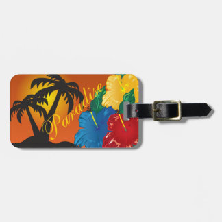 Living In a Tropical Paradise Bag Tag
