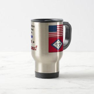 Living In Arkansas! 15 oz Travel/Commuter Mug