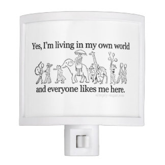 Living in My Own World Night Light