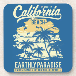 Living in Paradise Endless Summer California Beach Coaster