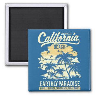 Living in Paradise Endless Summer California Beach Magnet