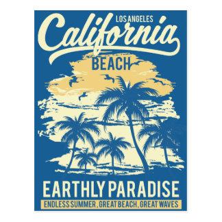 Living in Paradise Endless Summer California Beach Postcard
