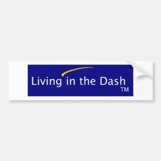 Living in the Dash Bumper Sticker