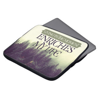 Living In The Moment by Robert Frost Laptop Sleeve