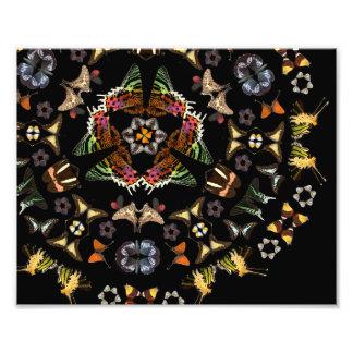 Living Kaleidoscope: Butterfly Pattern Photo Print