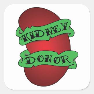 Living Kidney Donor Tattoo Square Sticker