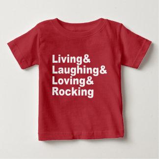 Living&Laughing&Loving&ROCKING (wht) Baby T-Shirt
