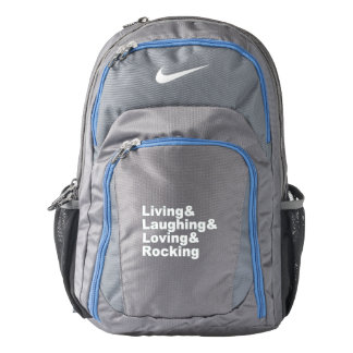Living&Laughing&Loving&ROCKING (wht) Backpack