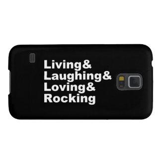 Living&Laughing&Loving&ROCKING (wht) Galaxy S5 Case