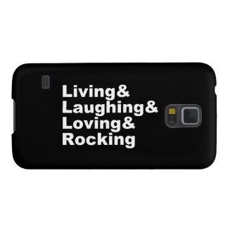 Living&Laughing&Loving&ROCKING (wht) Galaxy S5 Cover