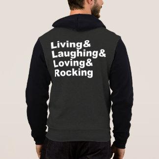 Living&Laughing&Loving&ROCKING (wht) Hoodie