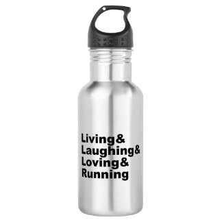 Living&Laughing&Loving&RUNNING (blk) 532 Ml Water Bottle
