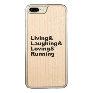 Living&Laughing&Loving&RUNNING (blk) Carved iPhone 8 Plus/7 Plus Case