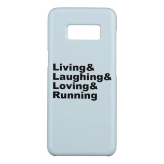 Living&Laughing&Loving&RUNNING (blk) Case-Mate Samsung Galaxy S8 Case