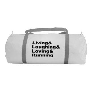 Living&Laughing&Loving&RUNNING (blk) Gym Bag