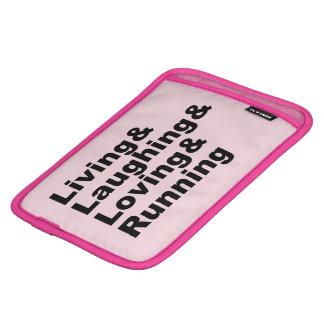 Living&Laughing&Loving&RUNNING (blk) iPad Mini Sleeve