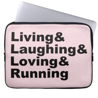 Living&Laughing&Loving&RUNNING (blk) Laptop Sleeve