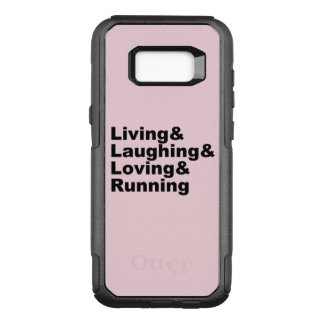 Living&Laughing&Loving&RUNNING (blk) OtterBox Commuter Samsung Galaxy S8+ Case