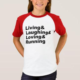 Living&Laughing&Loving&RUNNING (blk) T-Shirt