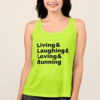 Living&Laughing&Loving&RUNNING (blk) Tank Top