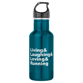 Living&Laughing&Loving&RUNNING (wht) 532 Ml Water Bottle