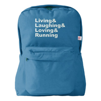 Living&Laughing&Loving&RUNNING (wht) Backpack