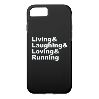 Living&Laughing&Loving&RUNNING (wht) Case-Mate iPhone Case