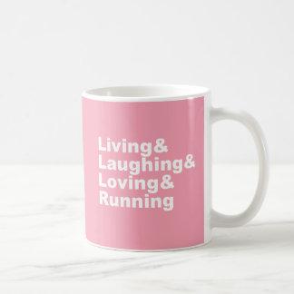 Living&Laughing&Loving&RUNNING (wht) Coffee Mug