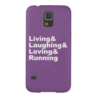 Living&Laughing&Loving&RUNNING (wht) Galaxy S5 Cases