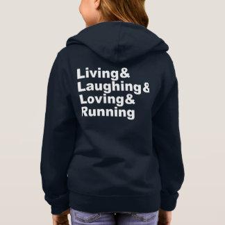 Living&Laughing&Loving&RUNNING (wht) Hoodie