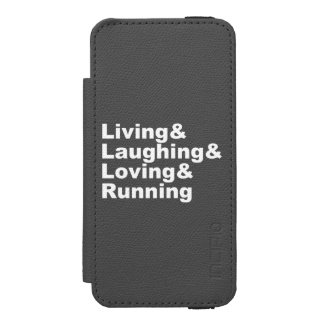 Living&Laughing&Loving&RUNNING (wht) Incipio Watson™ iPhone 5 Wallet Case
