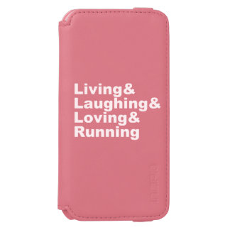 Living&Laughing&Loving&RUNNING (wht) Incipio Watson™ iPhone 6 Wallet Case