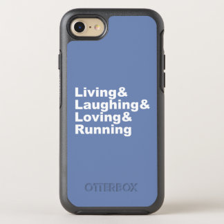 Living&Laughing&Loving&RUNNING (wht) OtterBox Symmetry iPhone 8/7 Case