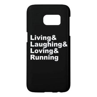 Living&Laughing&Loving&RUNNING (wht) Samsung Galaxy S7 Case