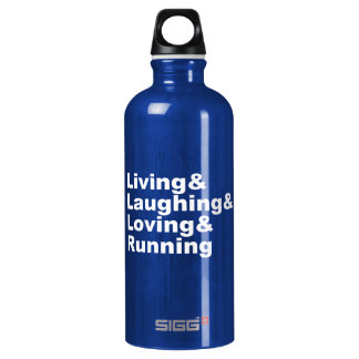 Living&Laughing&Loving&RUNNING (wht) Water Bottle