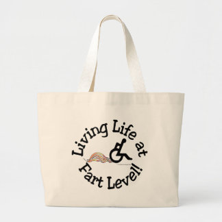 Living Life at Fart Level! Jumbo Tote Bag